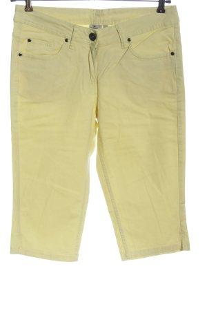 Blue Motion Jeansy 3/4 bladożółty Wzór w paski W stylu casual