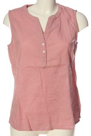 Blue Motion Mouwloze blouse roze Webpatroon casual uitstraling