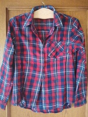 Blue Motion Camicia blusa blu-rosso mattone