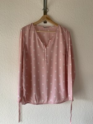 Blue Motion Bluse rosa weis gepunktet casual
