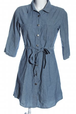 Blue Motion Blouse Dress blue casual look