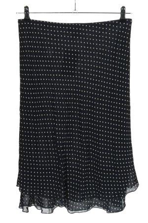 Blue Motion Plisowana spódnica czarny-biały Wzór w kropki W stylu casual