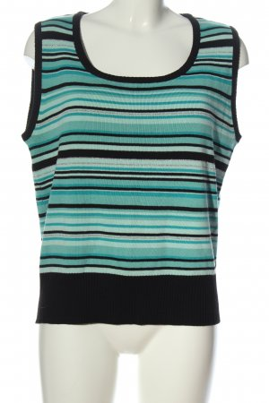Blue Motion Fine Knitted Cardigan turquoise-black striped pattern casual look