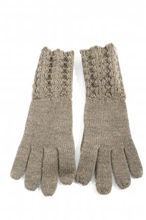 Blue Motion Gloves light grey cable stitch casual look