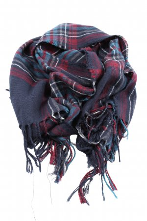 Blue Motion Fringed Scarf allover print casual look