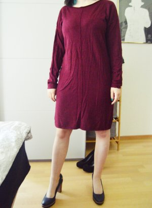 Blue Motion Wełniana sukienka bordo