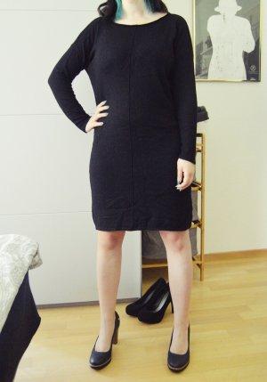 Blue Motion Wełniana sukienka czarny