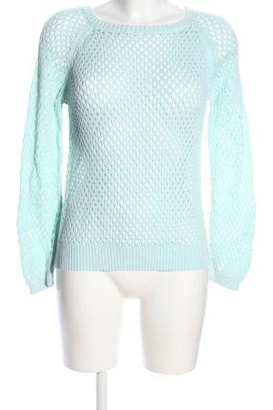 Blue Motion Pull en crochet turquoise style décontracté