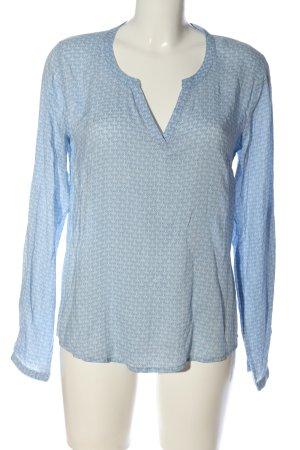 Blue Motion Hemd-Bluse blau-weiß Allover-Druck Casual-Look