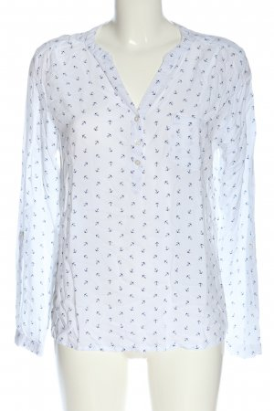 Blue Motion Hemd-Bluse weiß Motivdruck Business-Look
