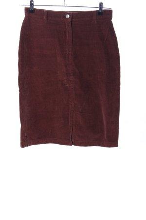 Blue Motion Falda de talle alto marrón look casual