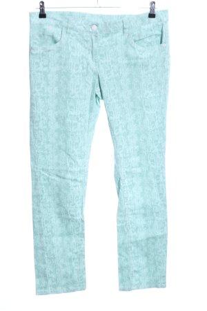 Blue Motion Jeans taille basse turquoise motif abstrait élégant
