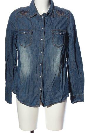 Blue Motion Jeansbluse blau Casual-Look