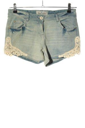 Blue Motion Pantaloncino di jeans blu-crema stile casual
