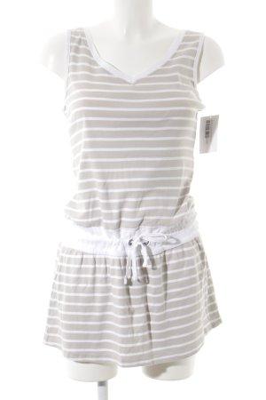 Blue Motion Jerseykleid weiß-hellbeige Streifenmuster sportlicher Stil
