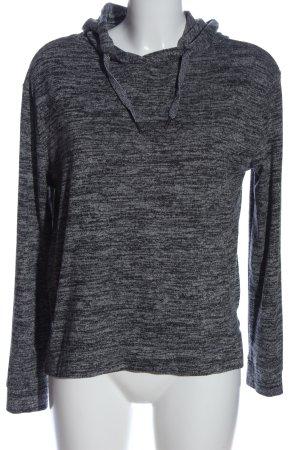 Blue Motion Felpa con cappuccio grigio chiaro-nero puntinato stile casual