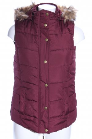 Blue Motion Hooded Vest red quilting pattern casual look
