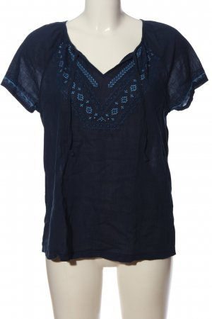 Blue Motion Kurzarm-Bluse blau grafisches Muster Casual-Look