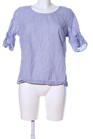 Blue Motion Kurzarm-Bluse blau-weiß Streifenmuster Casual-Look