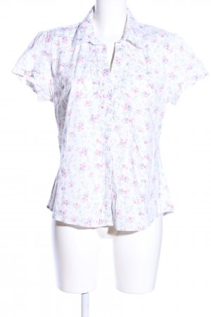 Blue Motion Kurzarm-Bluse weiß-pink Allover-Druck Casual-Look