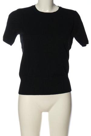 Blue Motion Sweater met korte mouwen zwart casual uitstraling