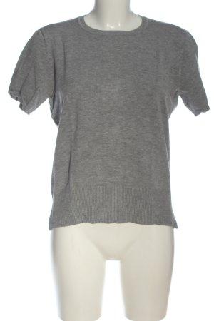 Blue Motion Sweater met korte mouwen lichtgrijs gestippeld elegant