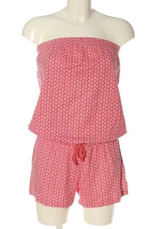 Blue Motion Kurzer Jumpsuit pink-weiß Allover-Druck Casual-Look