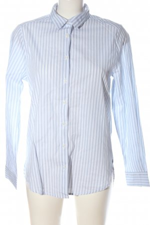 Blue Motion Shirt met lange mouwen blauw-wit gestreept patroon zakelijke stijl