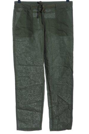Blue Motion Lniane spodnie khaki W stylu casual