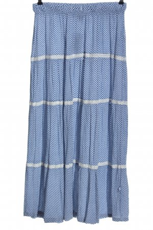 Blue Motion Maxi rok blauw-wit volledige print casual uitstraling