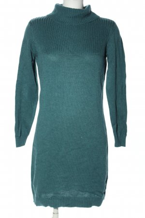 Blue Motion Sweater Dress green cable stitch casual look