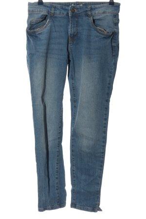 Blue Motion Jeans cigarette bleu style décontracté