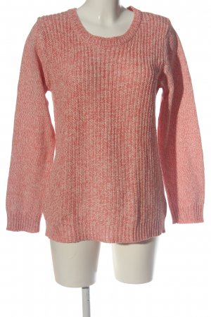 Blue Motion Rundhalspullover rot-creme meliert Casual-Look
