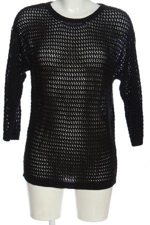 Blue Motion Kraagloze sweater zwart casual uitstraling