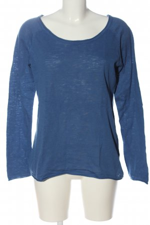 Blue Motion Kraagloze sweater blauw casual uitstraling