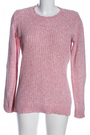 Blue Motion Crewneck Sweater pink weave pattern casual look