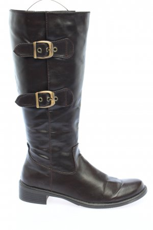 Blue Motion Botas estilo militar negro look casual
