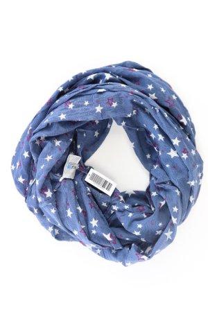 Blue Motion Schal mit Sternmuster blau