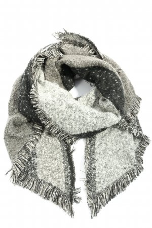 Blue Motion Shoulder Scarf light grey casual look