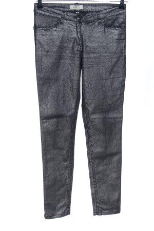 Blue Motion Skinny Jeans schwarz-silberfarben extravaganter Stil