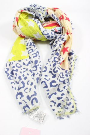 Blue Motion Summer Scarf abstract pattern casual look