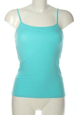 Blue Motion Top con bretelline turchese stile casual