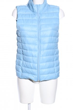 Blue Motion Quilted Gilet blue quilting pattern casual look