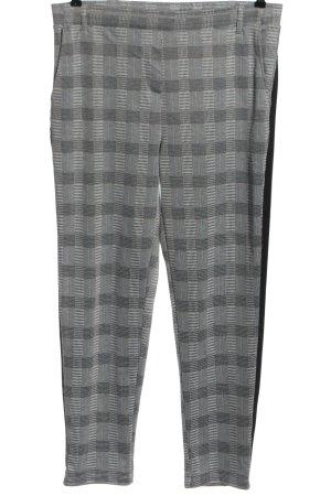 Blue Motion Pantalon en jersey gris clair-noir imprimé allover