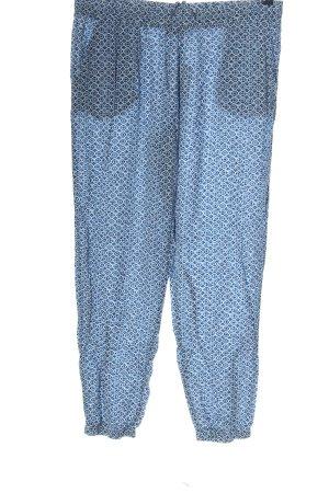 Blue Motion Pantalon en jersey bleu-blanc imprimé allover style décontracté