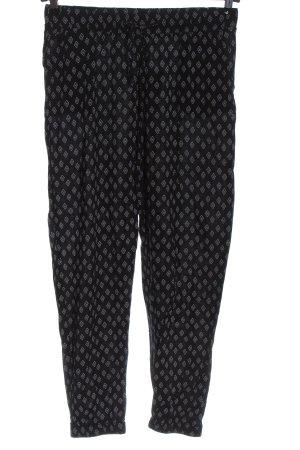 Blue Motion Pantalon en jersey noir-blanc imprimé allover style décontracté
