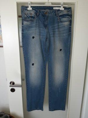 Blue Motion Straight-Jeans blau Causal-Look