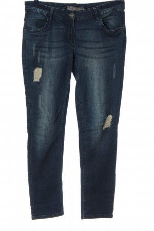 Blue Motion Straight Leg Jeans blue street-fashion look