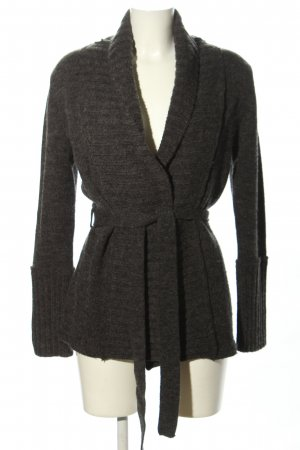 Blue Motion Strick Cardigan hellgrau Zopfmuster Business-Look