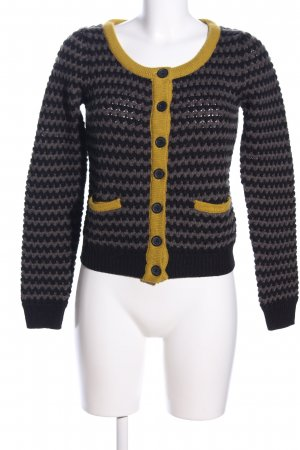 Blue Motion Strick Cardigan grafisches Muster Casual-Look